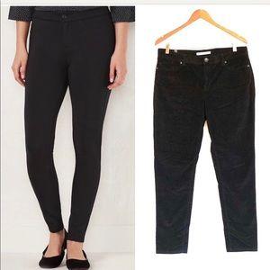 Lauren Conrad • Black Skinny Corduroy Pants
